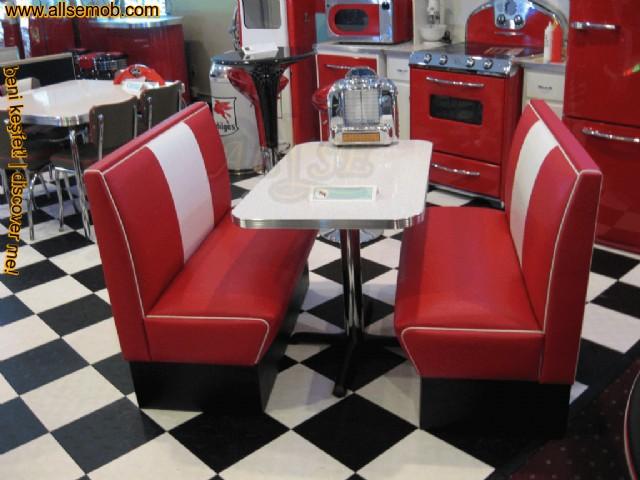 Kırmızı Beyaz Deri Sedir Koltuk Cafe Restoran Özel Ölçü Üretim