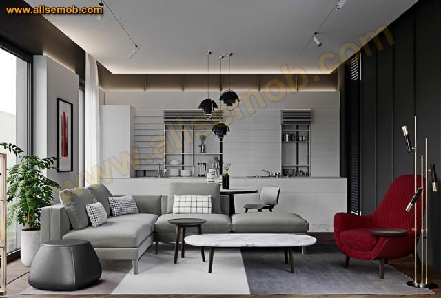 Modern Lüks Köşe Takımı Berjer Lüks Salon Oturma Odası Tasarımı