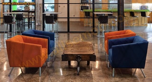 Otel Ofis Renkli Berjer Modern Berjer Koltuk Modeli Lüks Dekorasyon