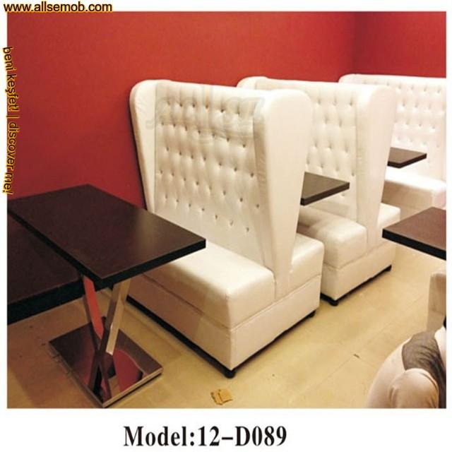 Beyaz Deri Cafe Sedir Koltuk Modelleri