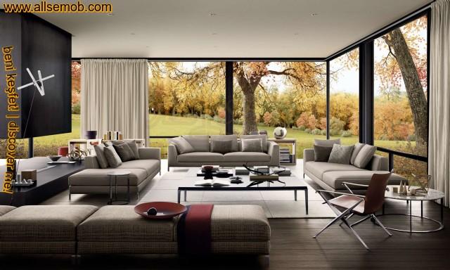 Dekoratif Creatif Lüks Modern Salon Oturma Grubu Tasarımı