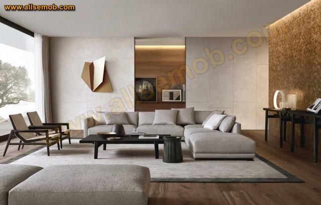 Gri Dekorasyon Modern Lüks Köşe Takımı Salon Oturma Odası Tasarımı
