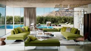 Şezlong Koltuk Takımı Modern Lüks Yeşil Salon Oturma Grubu Koltuk